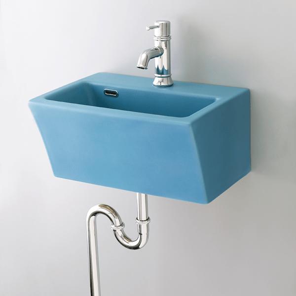 おしゃれでカラフルで個性的な洗面空間を演出できます。 洗面ボウル ブロック blue B217