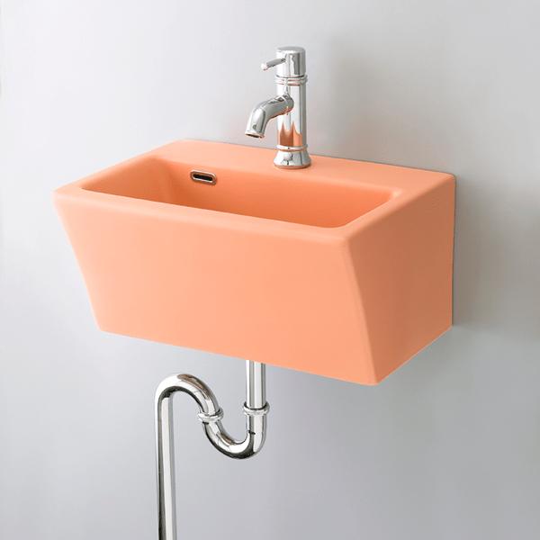 おしゃれでカラフルで個性的な洗面空間を演出できます。 洗面ボウル ブロック pink B218