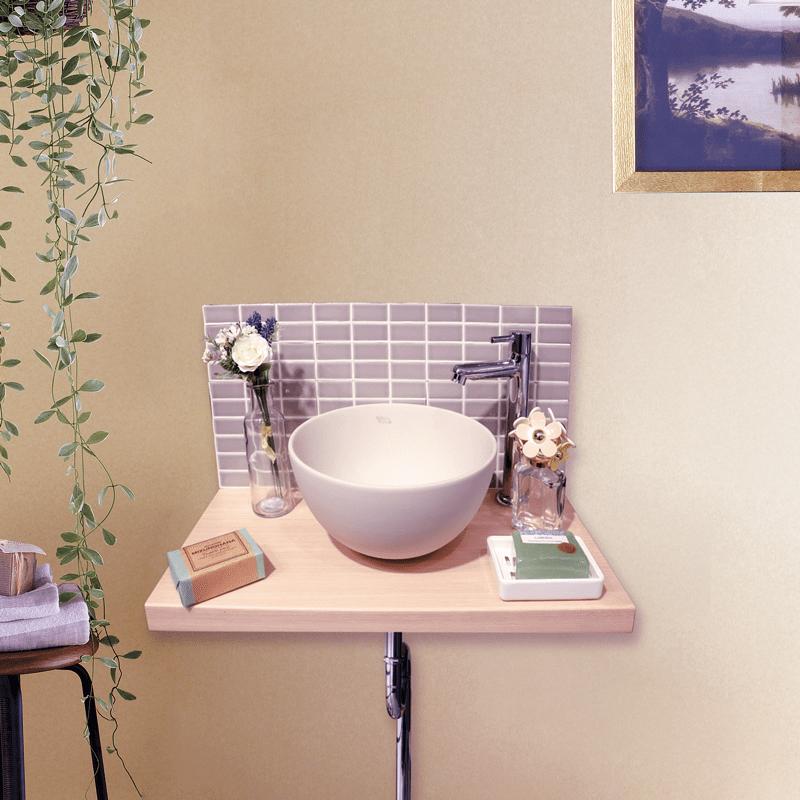 かえり手洗い 「おかえり!」といつも最初におでむかえ おかえり手洗い CN_TA カウンター色:ナチュラル パネルタイプ:Aタイプ